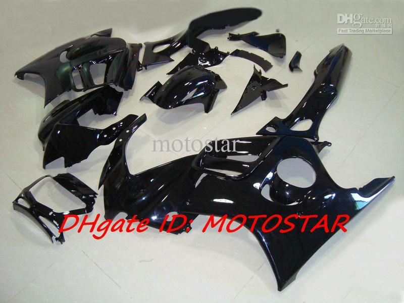 Todo o kit de carenagem preto brilhante para 1997 1998 HONDA CBR600F3 CBR600 F3 CBR 600F3 97 98 carenagens
