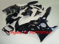 1997 honda cbr f3 carenados al por mayor-Todo el kit de carenado negro brillante para 1997 1998 HONDA CBR600F3 CBR600 F3 CBR 600F3 97 98 carenados