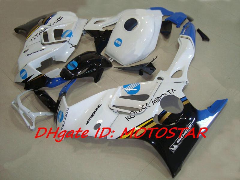 Högkvalitativ Konica Minolta Fairing Kit för 1997 1998 Honda CBR600F3 CBR600 F3 CBR 600 F3 97 98 Fairings