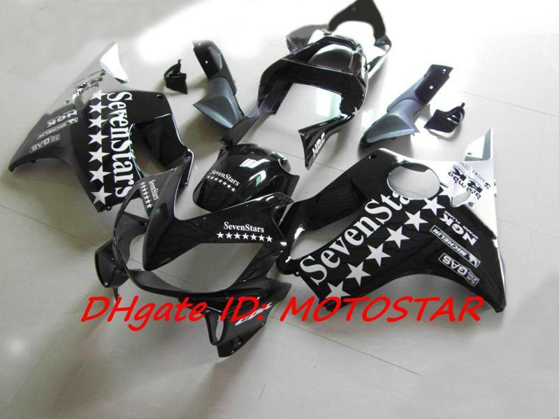 Sju Startar Fairing Kit för Honda CBR600F4I 2001 2002 2003 01-03 CBR600 F4I 01 02 03 Body Repair Fairings Kit