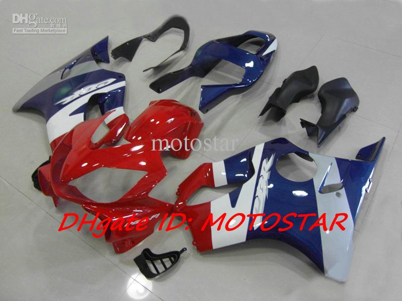 red blue white body kit for HONDA CBR600F4i 2004-2007 CBR600 F4i 04 05 06 07 CBR 600 full fairings