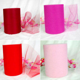 arcs décorations mariage Promotion Rouge / Rose TULLE Roll Spool 6