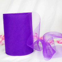tutu tulle violet achat en gros de-Pourpre Tulle Rouleau Bobine 6
