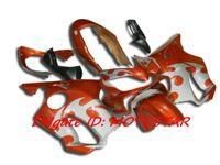 полный обтекатель honda cbr оптовых-Инъекции оранжевый кузов обтекатель комплект для HONDA CBR600F4i 2004-2007 CBR600 F4i 04 05 06 07 CBR 600 полный комплект обтекатели
