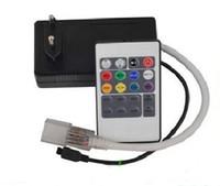 ac uzaktan kumanda toptan satış-IR 20 anahtar RGB LED Şerit Kontrol / yüksek gerilim 220 V / 110 V LED uzaktan kumanda