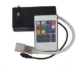 Wholesale High Voltage Rgb Controller - IR 20 key RGB LED Strip Controller   high voltage 220V 110V LED remote control