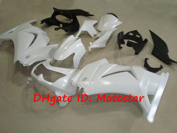N242 pearl white fairings for Kawasaki Ninja 250R ZX250R ZX 250 2008 - 2012 EX250 08-12 body repair fairing parts