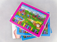 Wholesale Boy Tablet - Kid Educational Toys Y-Pad English Tablet Computer Learning Machine Touch Screen Numbers and Farm