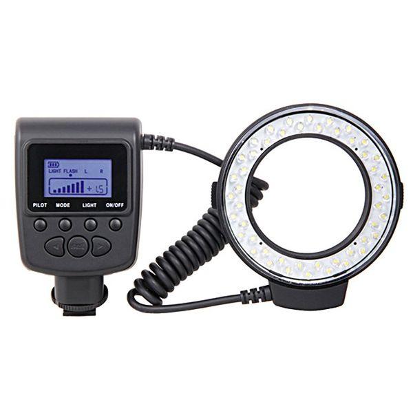 Yeni RF-550D MAKRO yuvarlak halka LED flaş ışığı Canon Nikon Pentax Panasonic J0039