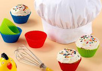 Wholesale Silica Gel Mould - 7cm Silica gel Liners baking mold silicone muffin cup baking cups cake cups cupcake