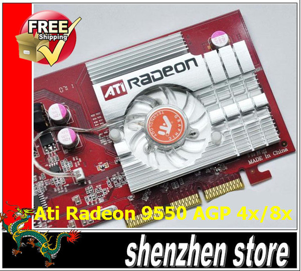 ATI Radeon 9550 AGP 256MB Video Graphic Computer Card Agp 4x 8x Tracking Code Pci Best From Weicontes 2855