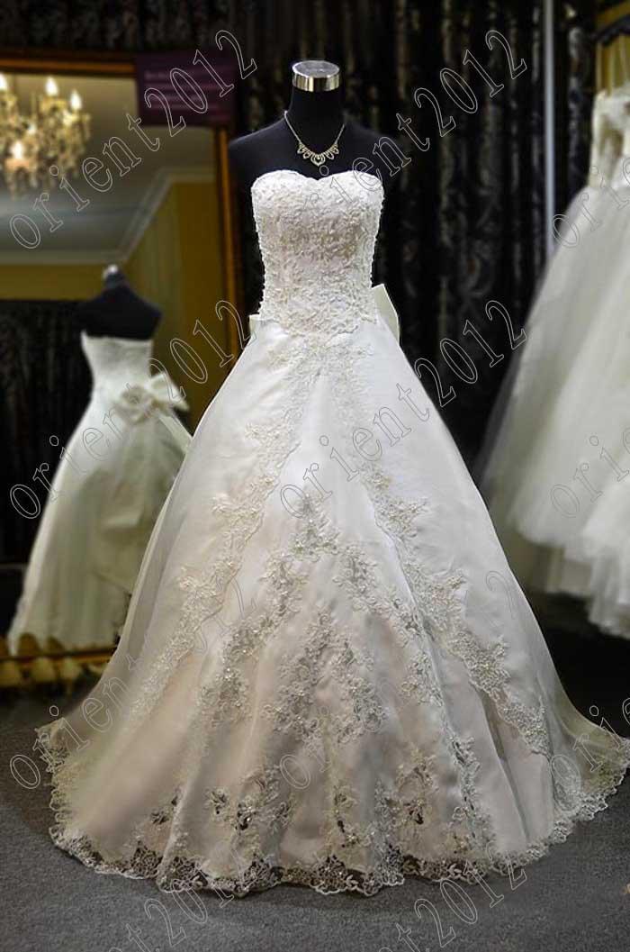 Vestido De Noiva On Sale Sweetheart Lace Beaded Pearl Wedding ...
