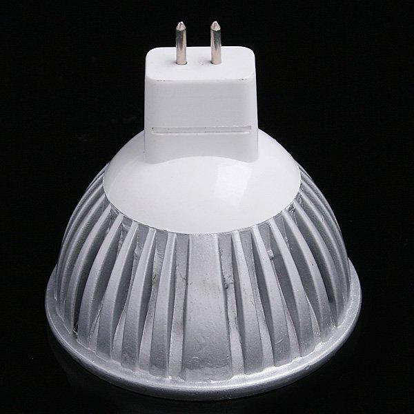 12V 3W 3 * 1W MR16 GU5.3 Vit LED-lampa LED-lampa Lampa Spotlight Spotlampa via DHL FedEx