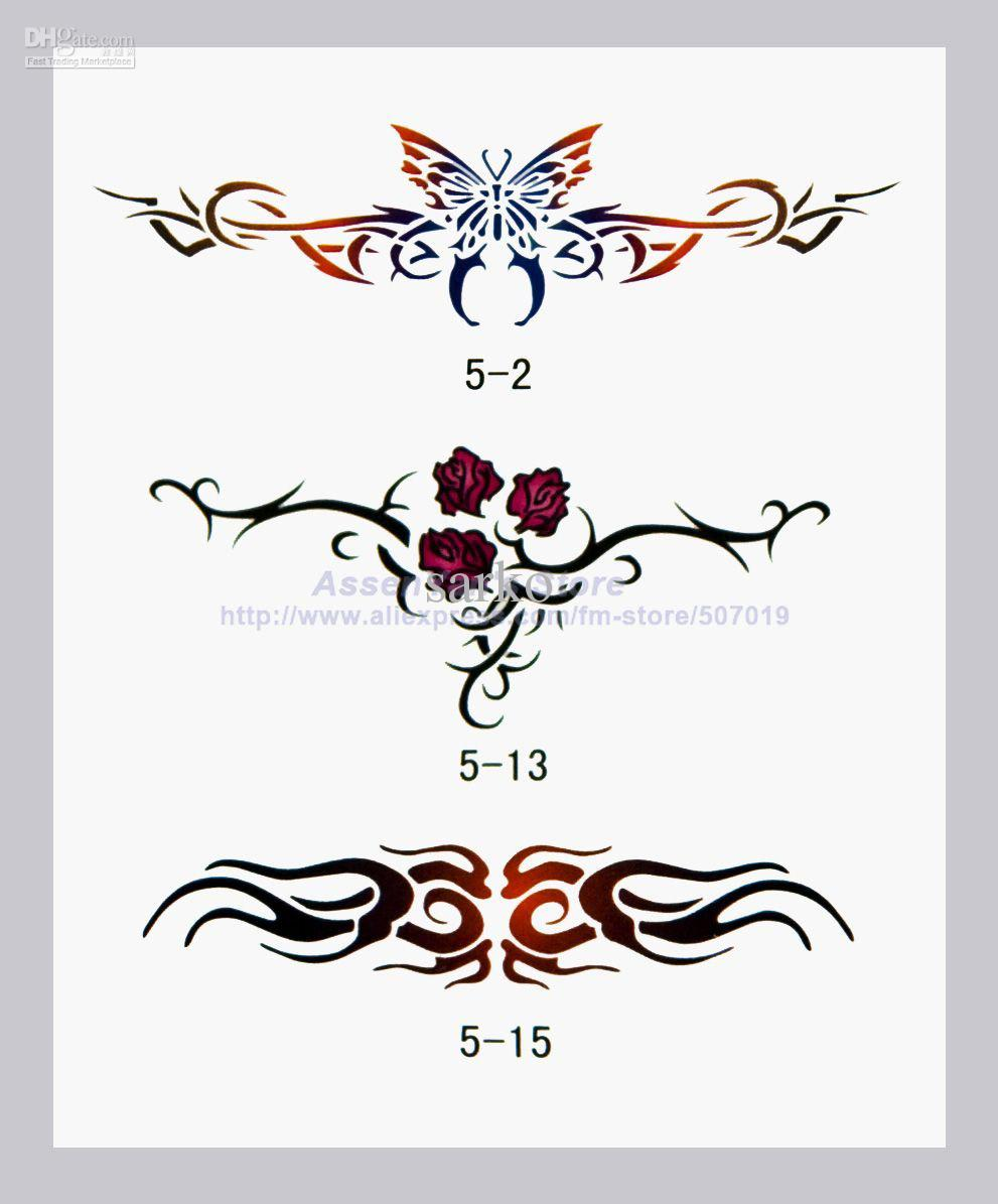 2018 temporary airbrush tattoo stencils book template booklet 5 30 designs reuseable from sarko. Black Bedroom Furniture Sets. Home Design Ideas