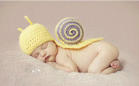Wholesale Snail Crochet - baby hat cute snail style handmade crochet hat baby photography props clothing
