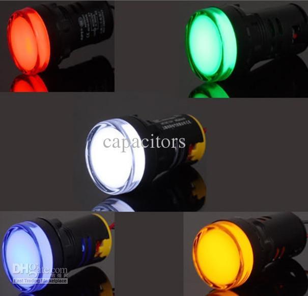 15x22mm DC 12V 혼합 5 색 빨간색 녹색 파란색 노란색 백색 LED 표시 등, 좋은 QUAL