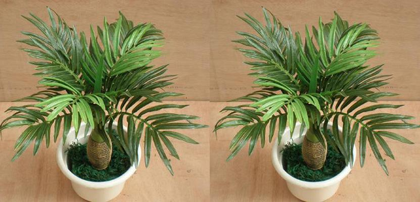 2018 12 Stems Mini Palm Trees Artificial Plants Trees Garden Decoration  From Lifelike_plants, $58.95 | Dhgate.Com