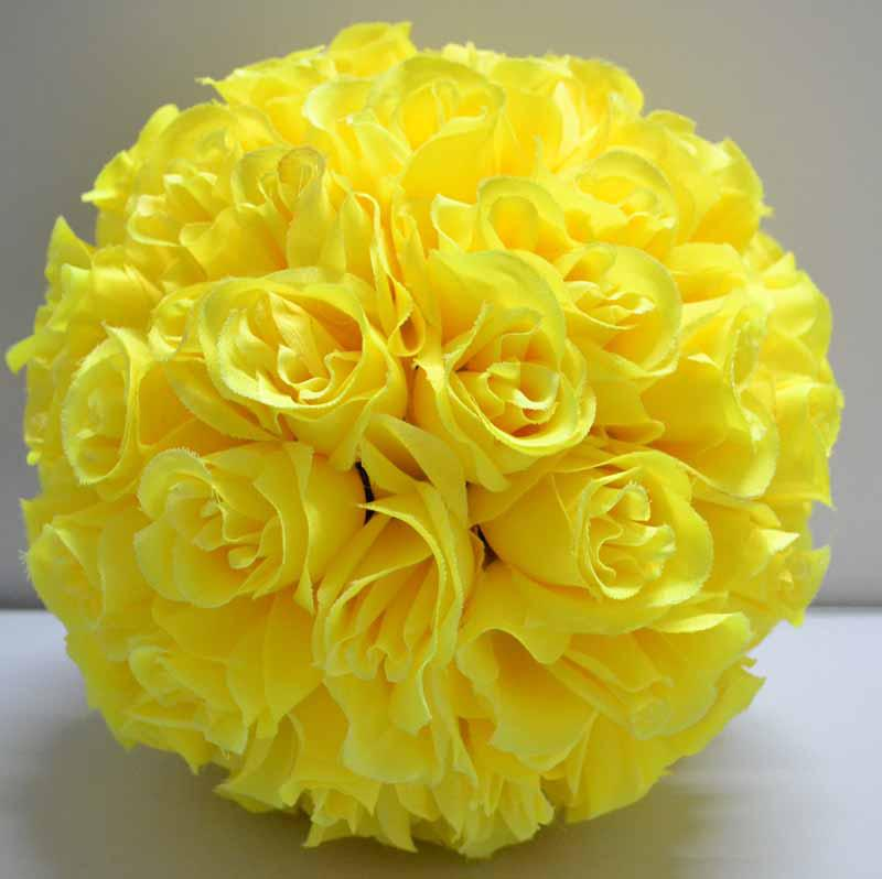 Yellow color kissing ball pomander flowers ball crystal pew bows yellow color kissing ball pomander flowers ball crystal pew bows wedding party supplies kissing ball pomander flowers ball cryst online with 11476piece mightylinksfo