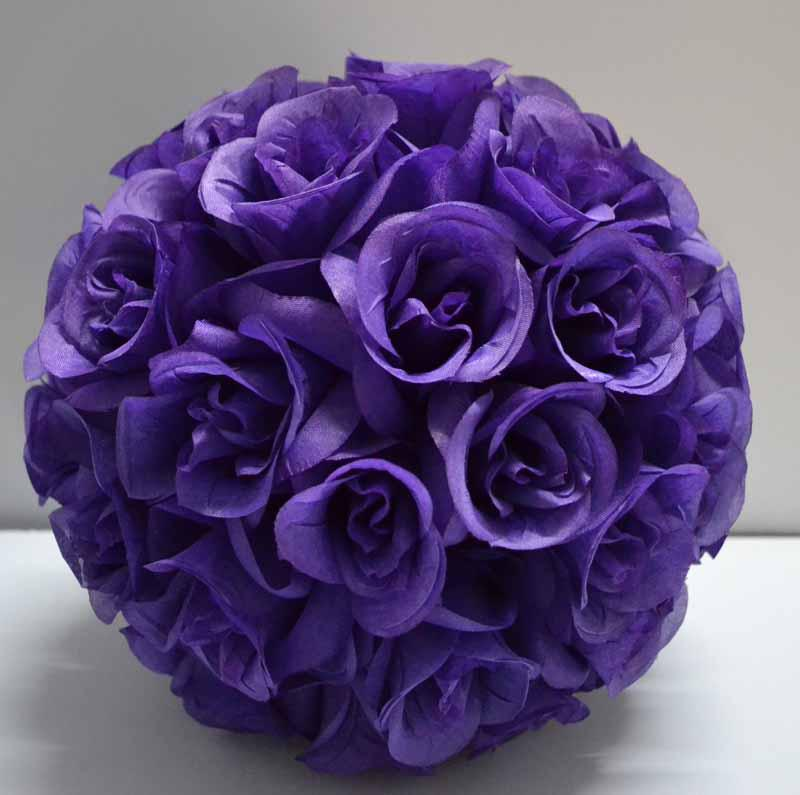 Dark purple color pomander kissing flower ball wedding set of 10 dark purple color pomander kissing flower ball wedding set of 10 kissing flower ball online with 1200piece on ericjiangs store dhgate mightylinksfo