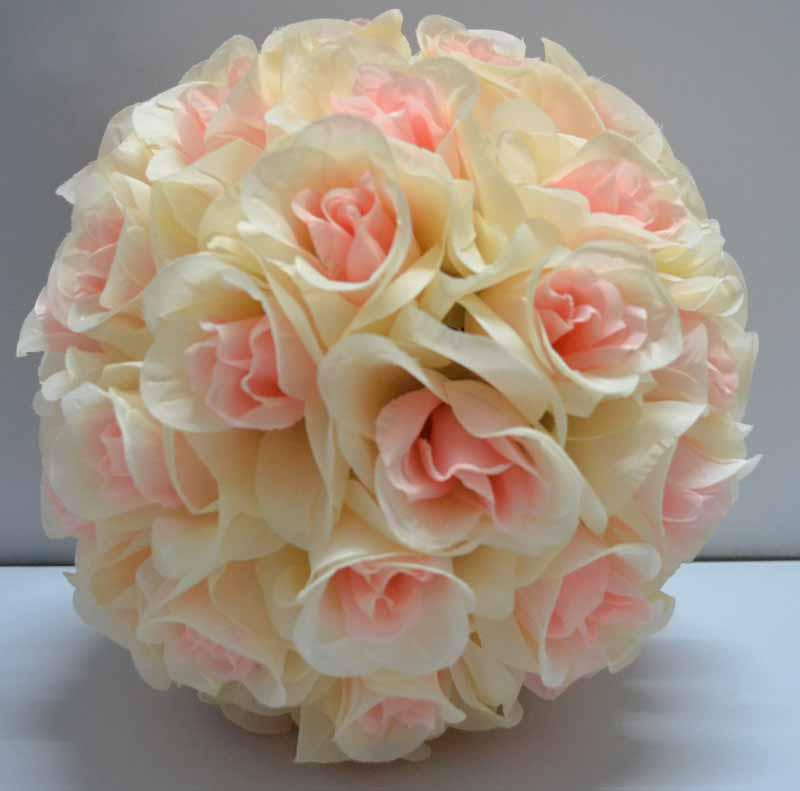 Silk Rose Pomander Flower Ball Bridal Wedding Decor Favor Party