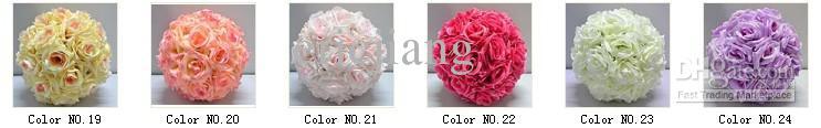 La seda artificial que se besa color de la bola de la flor color de rosa anaranjado los 25cm de diámetro