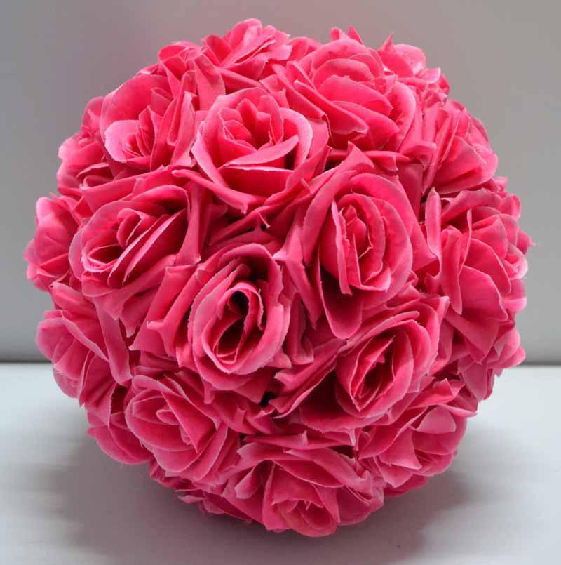 Grosshandel Seidenrosen Hochzeits Blumen Hangende Ball Dekorationen