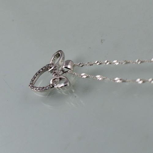 925 en argent sterling coeur pendentifs en gros main dans la main pendentif en cristal collier femmes bijoux