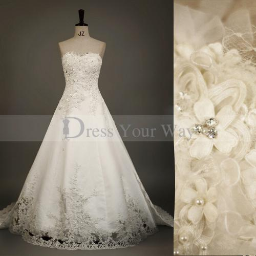 Embroidered Lace Wedding Dresses