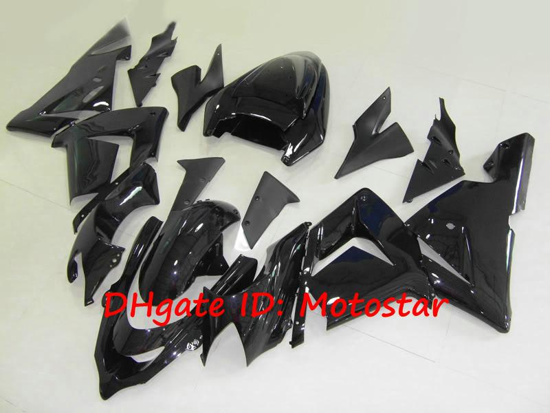 all gloss black bodywork for Kawasaki ninja ZX-10R 2004 2005 ZX10R 04 05 ZX 10R full fairings