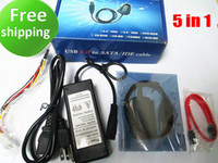Wholesale Hard Drive Usb Adapter Ide - USB 2.0 TO SATA IDE Hard Drive Adapter Converter Cable for 2.5 3.5 Hard Drive