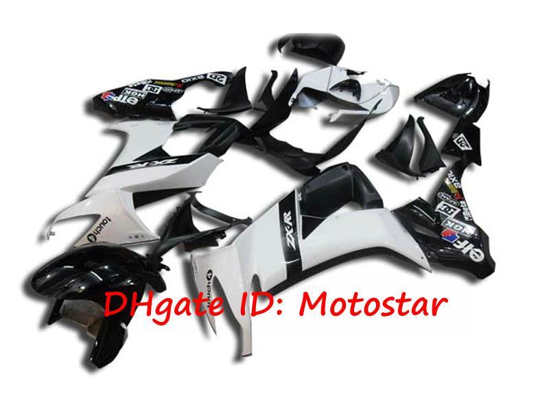 Carrosserie K1816 blanche et noire pour 2008 2009 KAWASAKI Ninja ZX-10R 08 09 ZX 10R Kit carénage complet