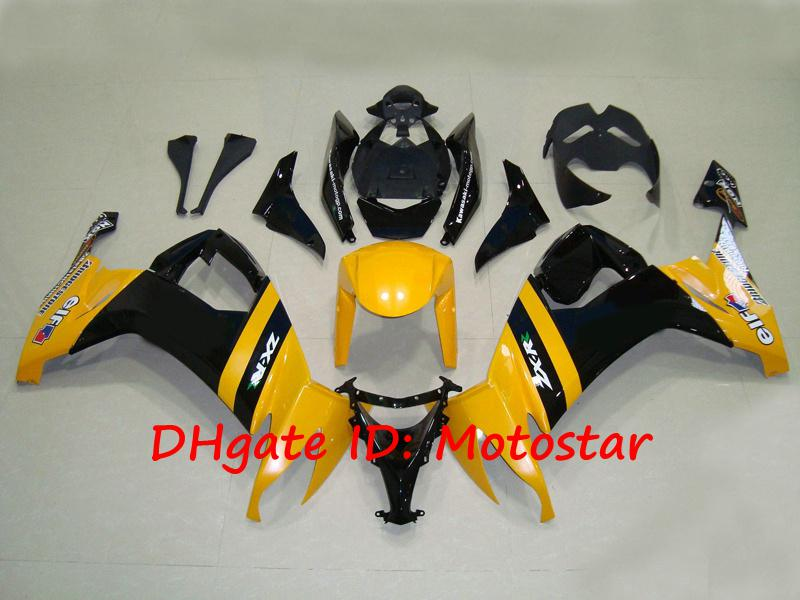 K1817 yellow motogp bodywork for 2008 2009 KAWASAKI Ninja ZX-10R 08 09 ZX 10R ZX10R full fairing kit