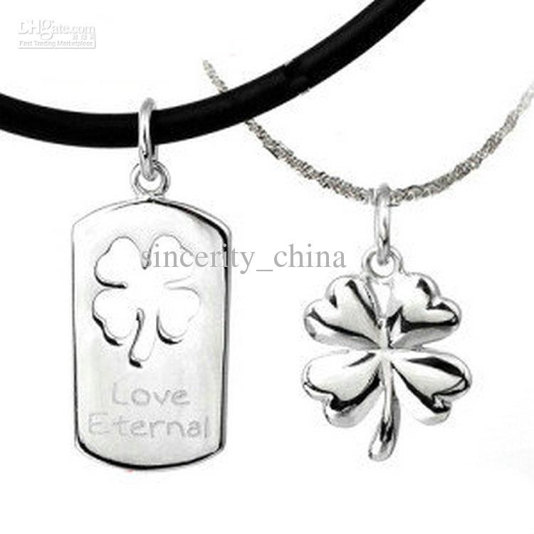 Wholesale supply 925 sterling silver the couple pendant aesthetic wholesale supply 925 sterling silver the couple pendant aesthetic happiness clover couple necklace love eternd pendant necklaces for women personalized mozeypictures Image collections