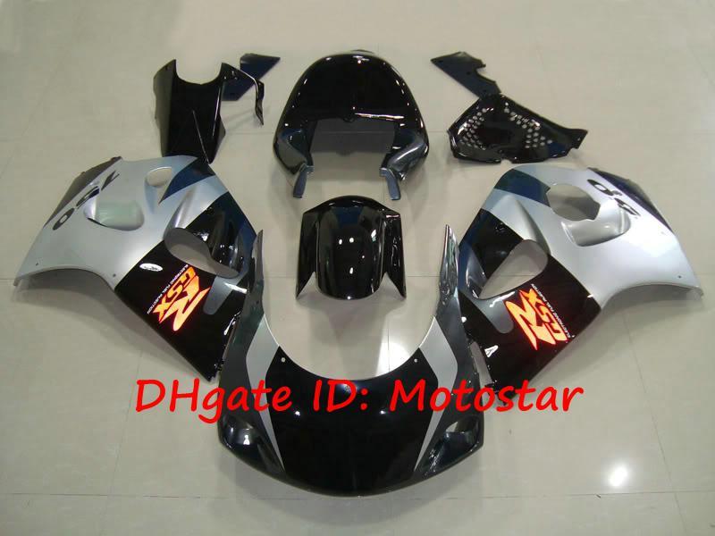 Zilveren zwarte vogels voor Suzuki GSXR 600 750 SRAD 1996 1997 1998 1999 2000 GSXR600 GSXR750 96 97 98 99