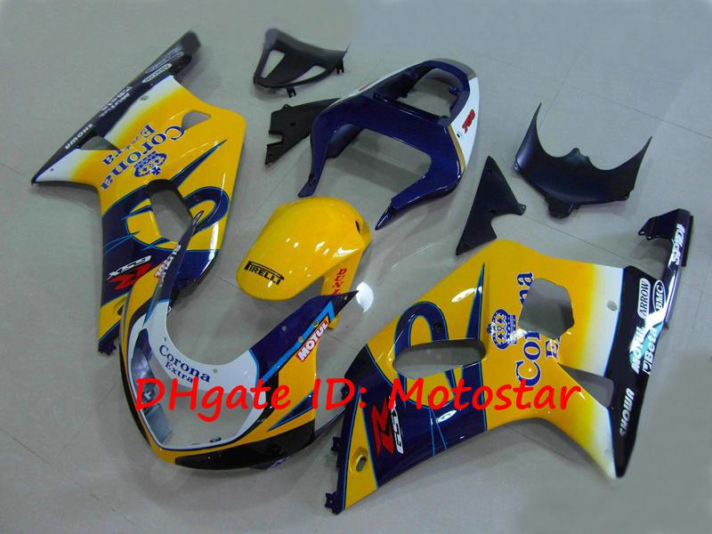 S6113 GSXR 용 Corona Extra 페어링 키트 600 750 K1 2001 2002 2003 GSXR600 GSXR750 01 02 03 차체