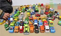 Wholesale Wooden Car Toys - Pull back toy car baby mini cars toys children back power engineering vehicles police car fire