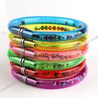 Wholesale Pen Bangles - 48 Assorted New Arrival Novelty Bracelets Bangle Wristlet Useful Ball Pen For Kids & Adults Mixed De