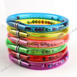 Wholesale Bangle Kid - 48 Assorted New Arrival Novelty Bracelets Bangle Wristlet Useful Ball Pen For Kids & Adults Mixed De