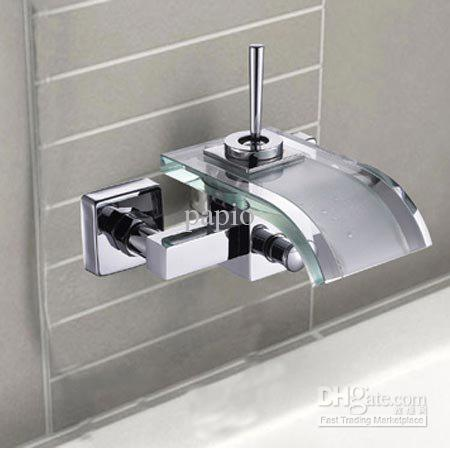 2018 Single Handle Widespread Wall Mount Bathroom Vessel Sink Faucet ...