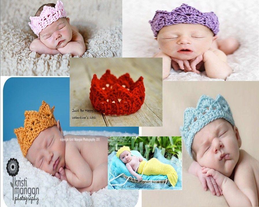 ffd9e66ad Handmade Crochet Tiara   Crown Headband for Baby - Teen Princess ...