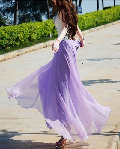 2018 뜨거운 여름 치마 패션 여성 시폰 스커트 캐주얼 활주로 드레스 섹시한 긴 스커트 클럽 파티 드레스 숙녀 여름 치마 여자 드레스