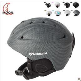 Wholesale Ski Boards - Moon SKI HELMET HAT Winter adult men and women single board double plate special snowboarding prote