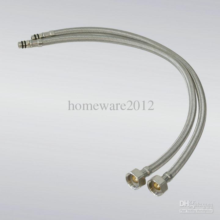 2019 2 XStainless Steel 1/2 Faucet Water Supply Hose Sink