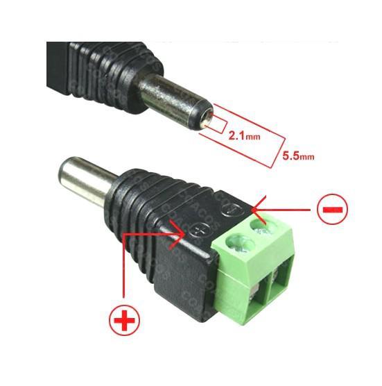 vente en gros la prise cable adaptateur plug de puissance jack connecteur m le cctv. Black Bedroom Furniture Sets. Home Design Ideas
