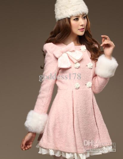 2017 Bow Long Wool Coat Female From Goddess178, $80.41 | Dhgate.Com