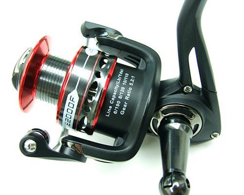 Frakt Fiske Reel Spinning Reel Fiske Lure Casting Reel Fiske Tackle New Design 6 + 1bb 5.2: 1 Four Storlek 1000 2000 3000 4000