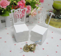 Wholesale Place Card Chair Favor Box - Wholesale 200PCS Miniature Chair Place Card Holder and Favor Boxcandy boxes favors Gift box
