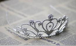 Wholesale Big Bridal Headpieces - Wholesale Shining Beautiful Super Big Rhinestone Wedding Bridal Tiara Women Headpiece Headband