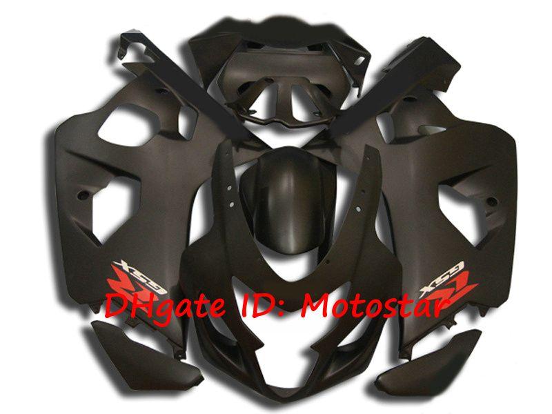 S6418 matte black fairing kit for SUZUKI 2004 2005 GSXR 600 750 K4 GSXR600 GSXR750 04 05 bodywork