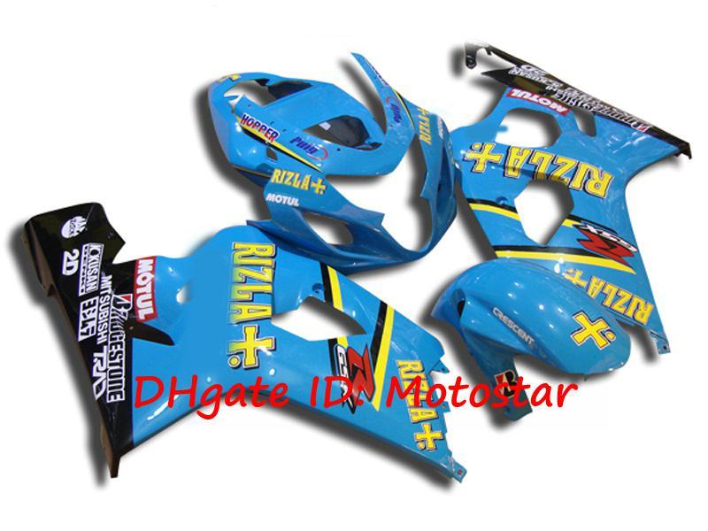 S6422 blue ABS fairing kit for SUZUKI 2004 2005 GSXR 600 750 K4 GSXR600 GSXR750 04 05 bodywork